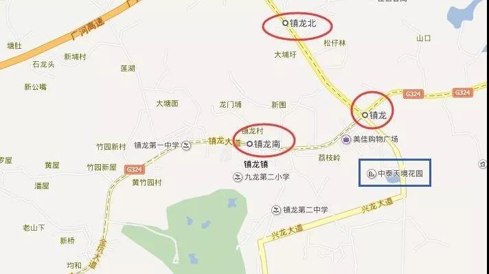 距离项目最近的地铁站为镇龙站和镇龙西站.jpg