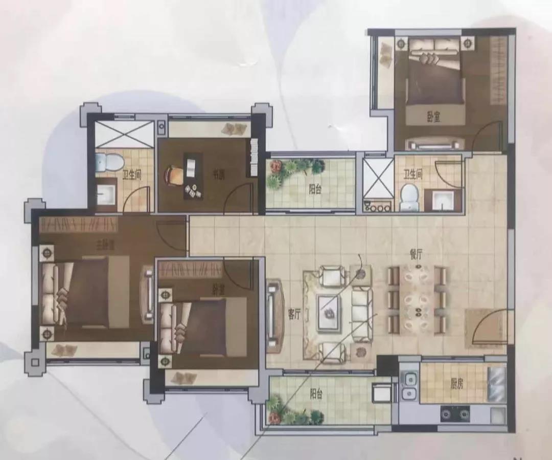 E户型122平方米四房两厅两卫.jpg