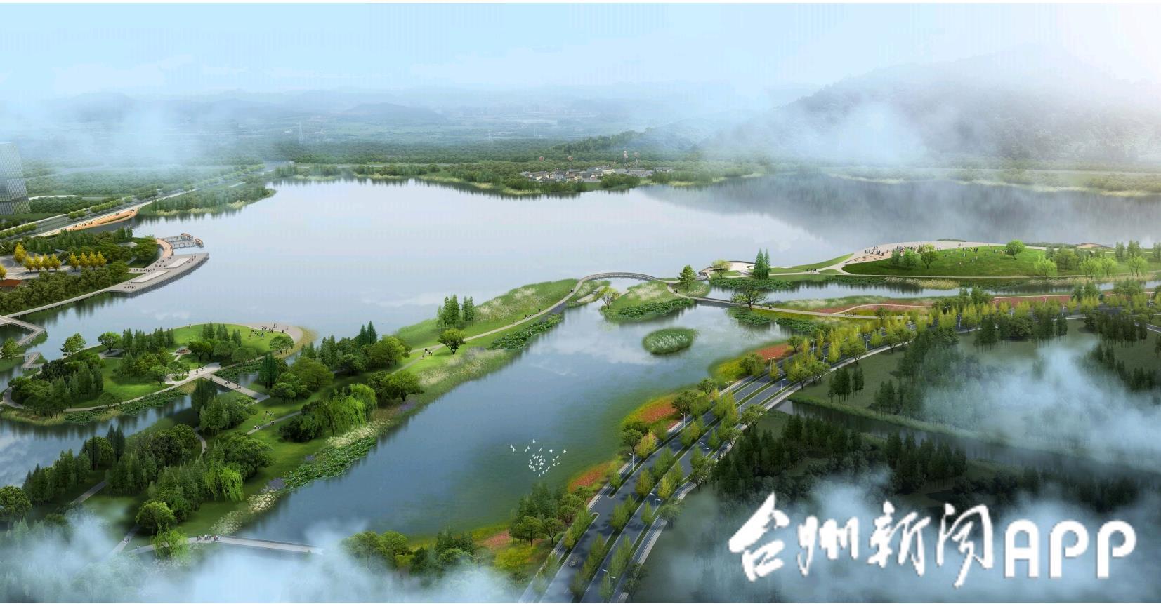 """台州这个城中湖,将成为""""城湖融合""""的绿心样板"""